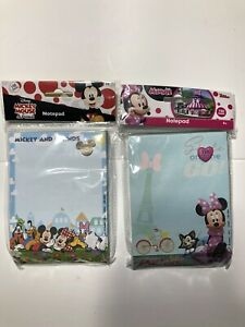 Disney Minnie Mouse Mickey Mouse And Friends Pink Deluxe Memo Notepad 2 Pack