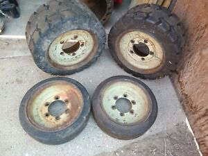 2007 Yale Forklift Wheel And Tire Set 15x5x11 25 18x8x12 5002915 00 50027750