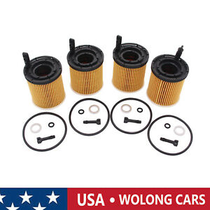 4 Set Oil Filter Pack W seals 26350 2m000 Fit For 2019 2020 Kia Rio 1 6l Engine