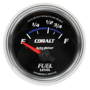 Autometer 6118 Cobalt Electric Fuel Level Gauge
