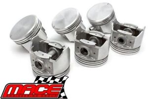 Set Of 6 Mahle Forged Pistons With Rings For Holden Ecotec L36 3 8l V6