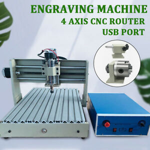 Usb 4 Axis 3040t Cnc Router Engraver Engraving Cutting Desktop Milling Cutter Us
