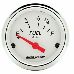 Auto Meter 2 1 16 Fuel Level 73 10 Ohm A r core Ford Arct c White 1316