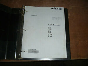 Wacker Neuson G25 G50 G70 G85 Mobile Generators Shop Service Repair Manual
