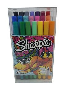 Sharpie Permanent Marker Limited Edition Ultra Fine Point 21 Ct