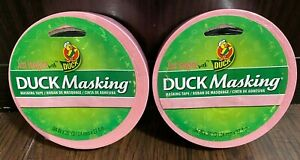 Lot Of 2 Duck Masking Tape Pink 94 Inch X 30 Yd Roll Brand New