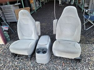 1998 Ford F 150 Pickup Buckey Seats With Console Gray Manual
