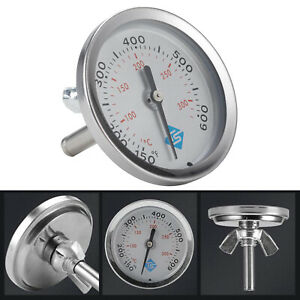 Cooker Barbecue Oven Thermometer Barbecue Grill Smoker Time Double Gauge