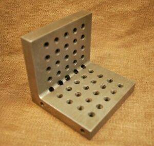 Precision Machinist Angle Plate Multiple Threaded Holes 3 X 3 Harden Steel