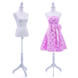 Female Mannequin Torso Dress Clothing Form Display Sewing Mannequin Tripod Stand