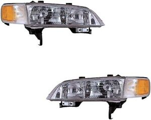 Headlights For Honda Accord 1994 1995 1996 1997 With Marker Lights Pair