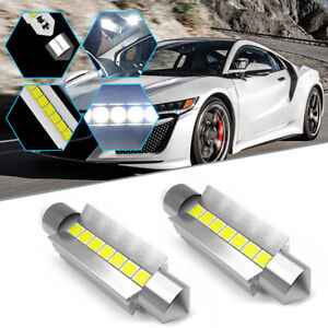 2pcs Car Parts Led Interior Dome Bulbs For Dome Map Trunk License Plate Lights
