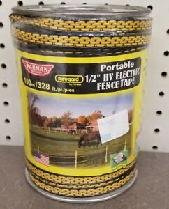 Baygard 00171 328 Yellow black High Visibility Electric Fence Tape Parmak