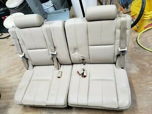 2007 2014 Escalade Tahoe Suburban Yukon Third Row 3rd Tan Leather Back Seats Oem