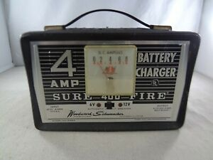Schumacher Ws844 Amp 6v 12v Sure 400 Fire Battery Charger Tested working