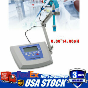 Chemical Lab Instrument Benchtop Ph Meter tester 0 60 Manual Tempe Compensation