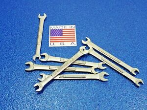 1 Vintage Craftsman Sae 1 4 X 5 16 Open End Wrench P n 44571 Vv Forge Code Lot