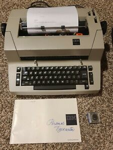 Rare Ibm Personal Typewriter W manual Font Heads Cover Fantastic Condition