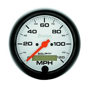 Autometer Phantom Series 3 3 8in Size 0 120 Mph Analog Speedometer 5887