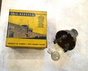Vintage Car Truck 3 Position 6 Or 12 Volt Cole hersee Ignition Switch Hot Rod