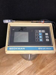 Beckman Ph Meter Model Phi 40 With Probe Included See Description Jhb2