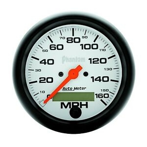Autometer Phantom Series 3 3 8in Size 0 160 Mph Analog Speedometer 5888