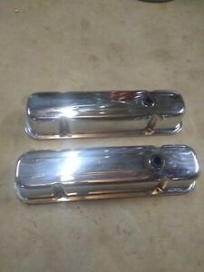 Chevy 305 350 400 Small Block Chrome Valve Covers