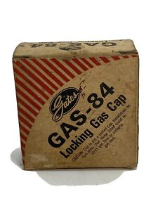 Vintage Gates Gas 84 Locking Gas Cap Non Vented W Box No Key Car Truck Parts