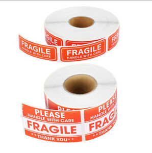 100 200pcs Fragile Stickers Handle With Care Thank You Warning Label Tag Sticky