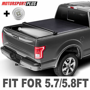 Soft Roll Up Tonneau Cover For 2009 2020 Dodge Ram 1500 Crew Cab 5 7ft Short Bed