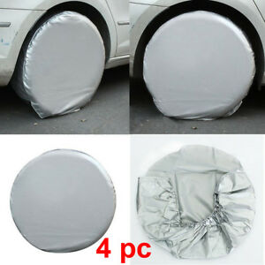 4pcs Waterproof Wheel Tire Covers Sun Protector For Truck Car Rv Trailer Camper