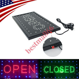 2 In 1 Open Closed Bright Led Motion Business Sign Display Neon Store Shop Bar