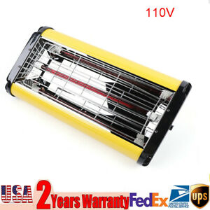 110v Baking Infrared 1kw Paint Curing Lamp Heater Heating Light Spray Booth