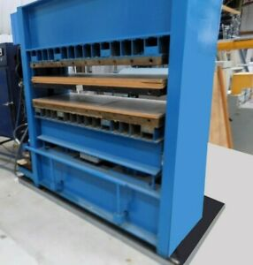64 X 24 Wabash 140 Ton Hydraulic Molding Platen 4 Post Press Self Contained