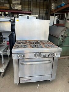 South bend S36d 36 6 Burner Gas Range W Standard Oven Natural Gas