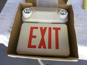Emergency Light Exit Sign 2 Light Head Red Safety Lighting Sale