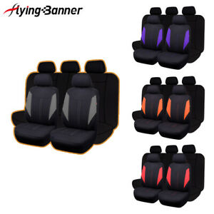 Car Seat Covers Universal Set Auto Accessory Split 40 60 50 50 Airbag Compatible