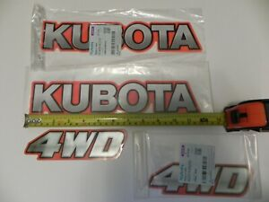 Genuine Oem Kubota Label Decals To Fit Models Bx B L Tractors Some Others