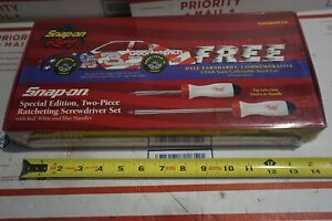 Super Ltd Edition Snap On 2 Pc Ratcheting Screwdriver Set W Free Car 3 Sealed