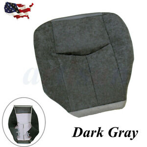 Fit 2003 2007 Gmc Sierra 1500 2500 Sle Driver Side Bottom Cloth Seat Cover Gray