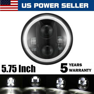 5 3 4 5 75 Led Headlight Projector For Sportster Xl 883 1200 H4 Dyna Motorcycle
