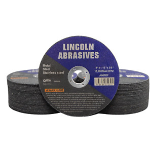 50 Pack 4 X 1 16 X 5 8 Cut off Wheels Cutting Discs Stainless Steel Metal