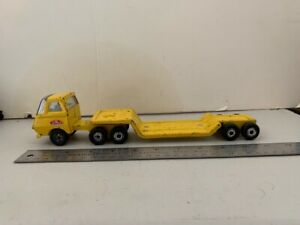 Vintage Tonka Tractor And Lowboy Construction Trailer 1970s