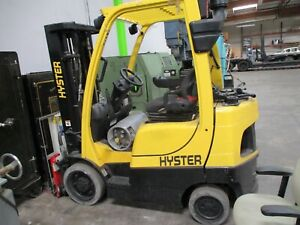 2017 Hyster S50ft 5000 Lb Forklift W Sideshift Lp 189 Inch Height 1500 Hours