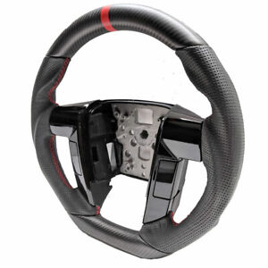 Custom 2011 2014 Ford F150 Steering Wheel real Matte Carbon Fiber leather