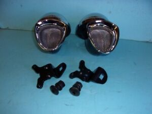 1933 1934 Ford Car Horns With Mount Brackets And Bolts Coupe Sedan Roadster 12 V