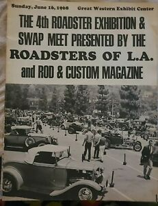 1968 4th Annual L a Roadster Exhibition Swap Meet Official Program 32 Ford