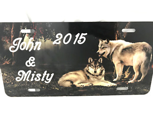Wolf Personalized License Plate Free Engraved Wolves Vanity Auto Car Tag Custom