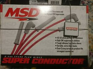 Msd 31239 8 5mm Super Conductor Spark Plug Wire Set 90 Plug End Chevy Ford Mopar