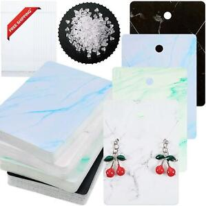 800 Pieces Marble Design Earring Card Display Holder Set Include 200 Marble Dis
